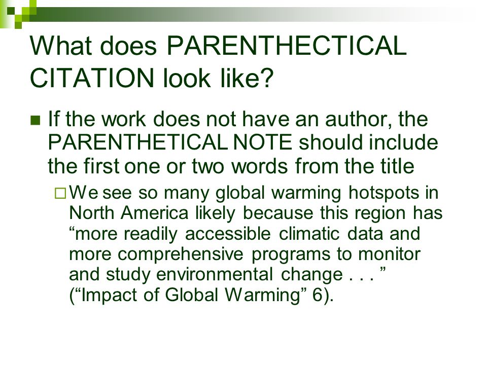 parenthetical citation mla research paper