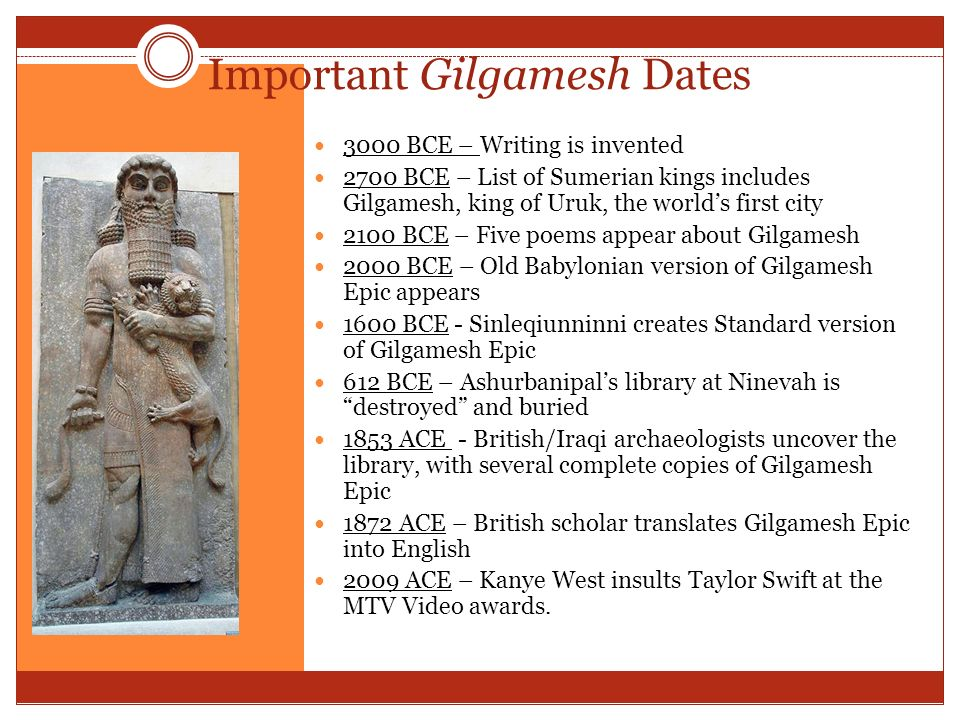 Help with Paper....Gilgamesh and Moses!?
