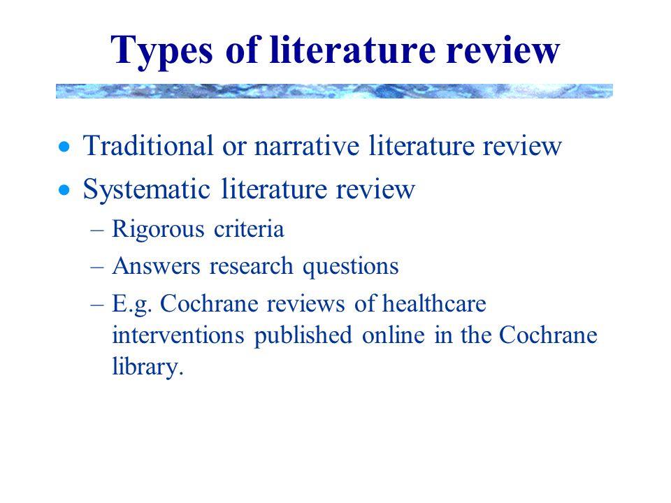 Critiquing a literature review