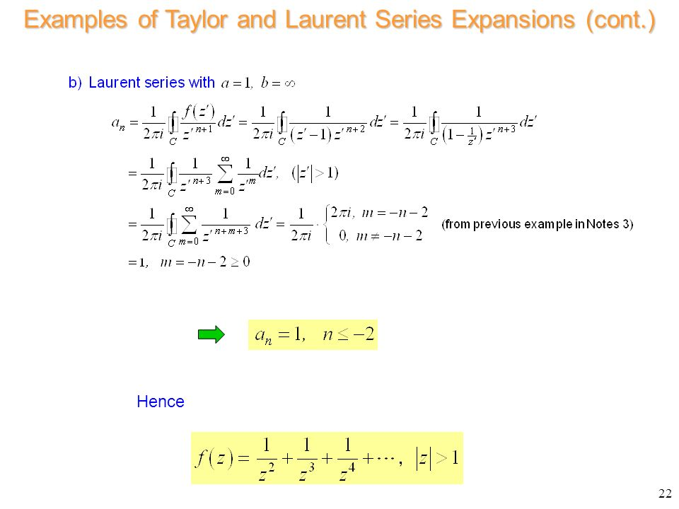 Laurents series examples