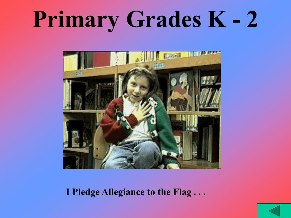 Interesting Facts Middle School Students tied College Students at 52% in their ability to successfully write the Pledge of Allegiance while the success rate was only 20% for High School Students.