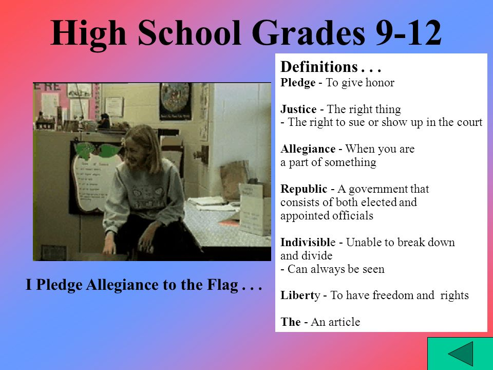Middle School Grades 6-8 Definitions...