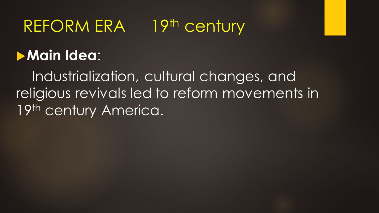 reform movements of the 19th century dbq Ap® united states history 2011 scoring guidelines (form b) united states history 2011 scoring guidelines for the 19th -century.