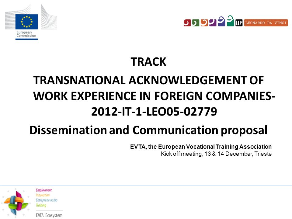 Track Transnational Acknowledgement Of Work Experience In Foreign