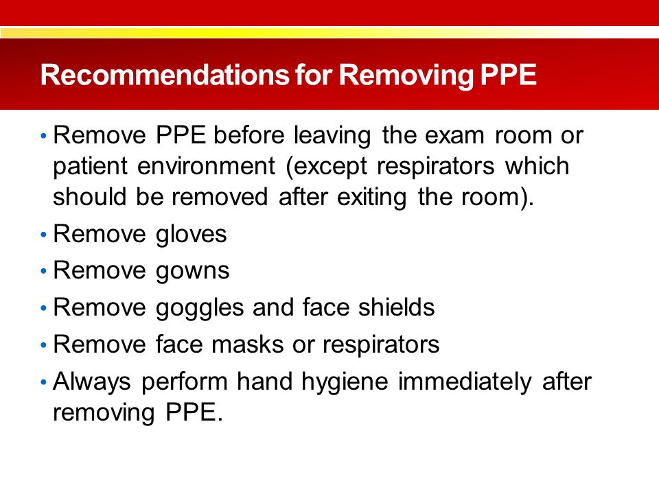 describe the correct practice in the application and removal of ppe - describe the correct practice for the application of, removal of and disposal of ppe that has been used (ico1 51-58) 6 – what are the key principles of good.