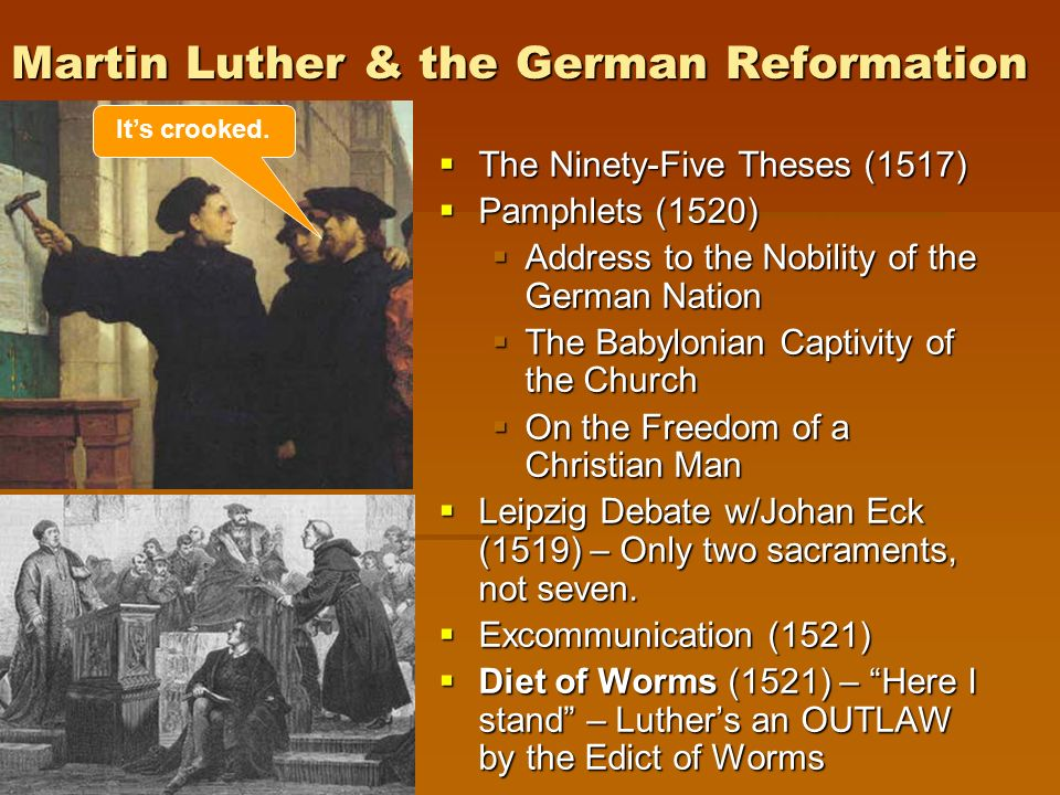 an examination of luthers ninety five theses Protestantism is popularly considered to have begun in germany in 1517 when martin luther published his ninety-five theses as a reaction against abuses in the sale of.