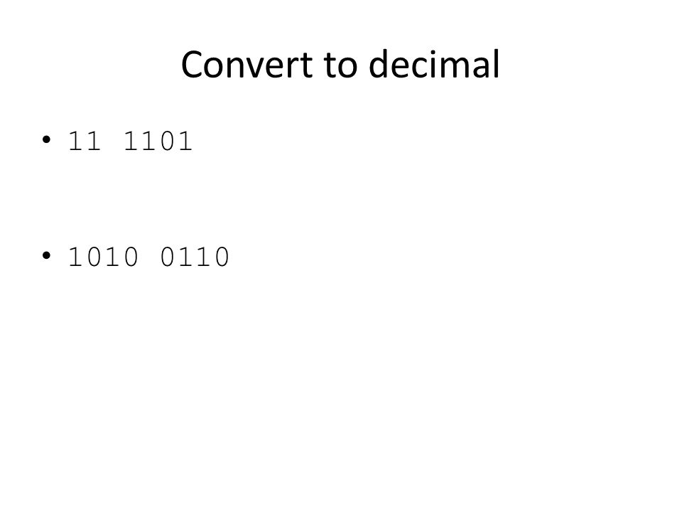 Convert to decimal 11 1101 1010 0110