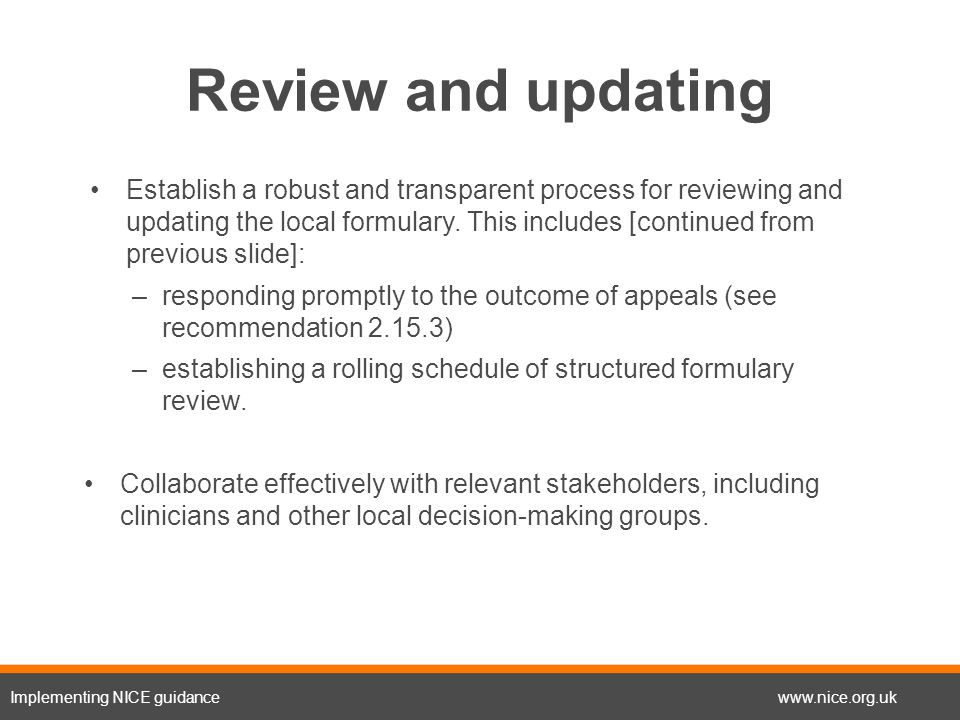 Developing and updating local formularies