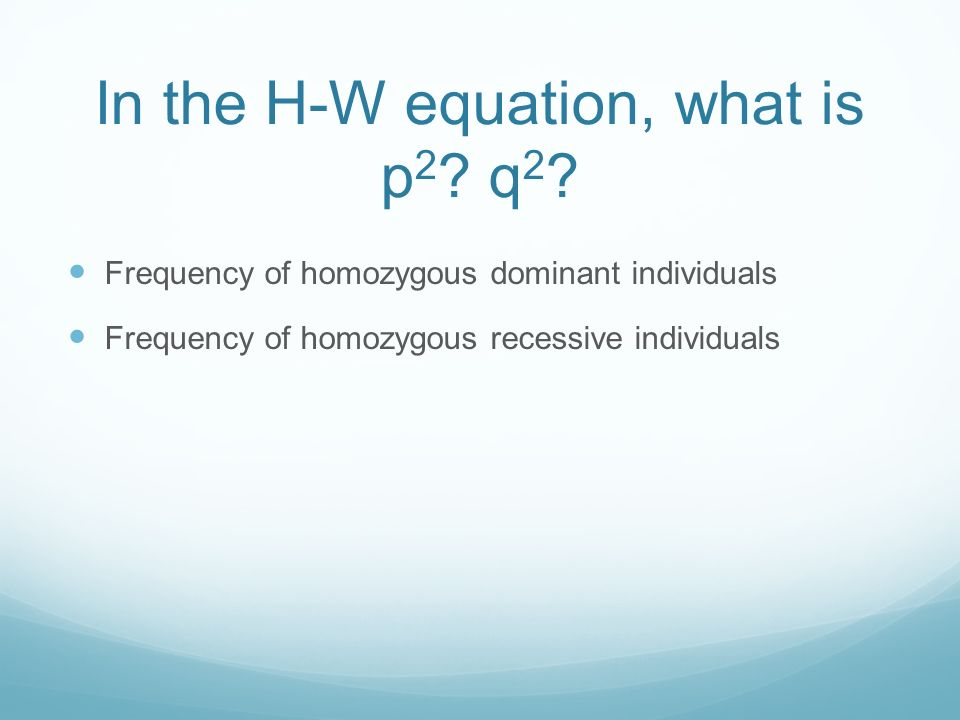 In the H-W equation, what is p 2 . q 2 .