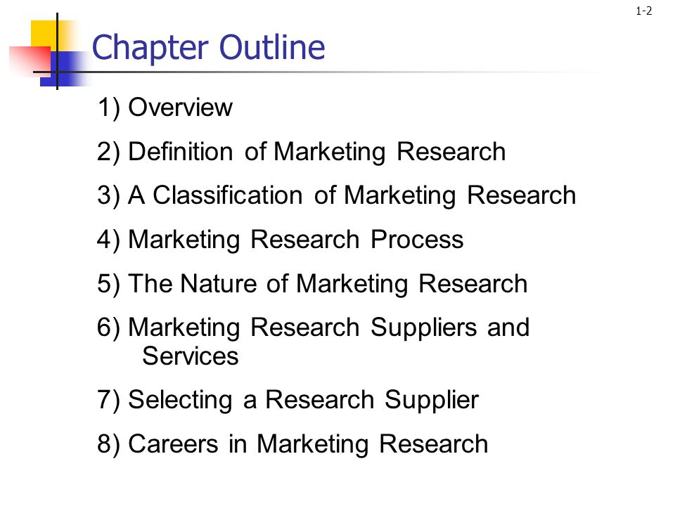 marketing dissertation outline