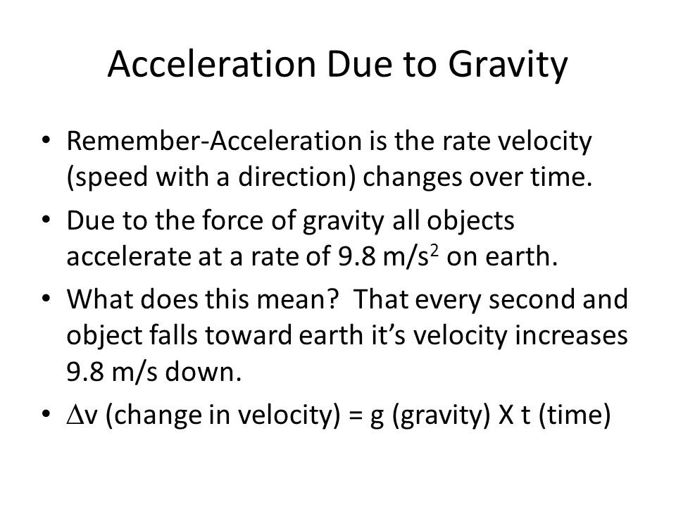 Gravity and Motion Chapter 2 Section 1 ppt download – Acceleration Due to Gravity Worksheet