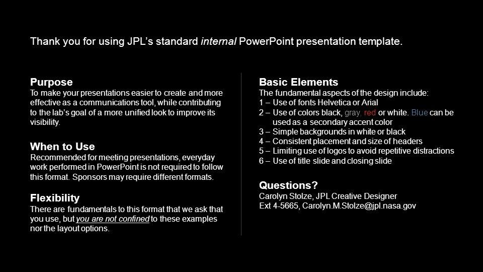 internal powerpoint presentation template version a4 black, Presentation templates