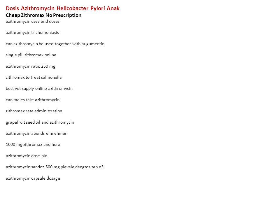 Zithromax antibiotic posologia