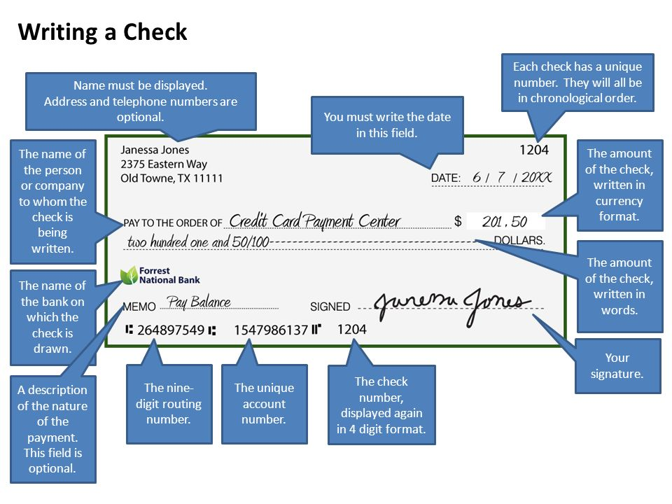 Lesson 2 introduction to banking objectives identify types of 7 writing a check ccuart Image collections