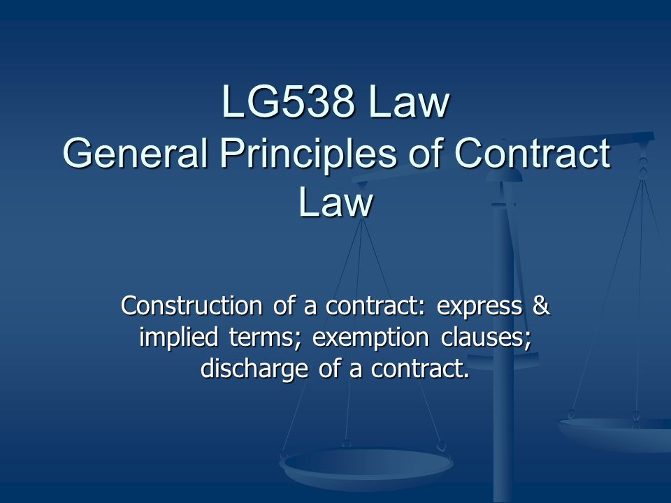 law control of exemption clauses Topic 11: exemption clauses - common law study play exemption clause is a contractual term that purports to limit or exclude a liability that would otherwise attach to one of the contracting parties  control 1 incorporation: is the exemption clause part of the contract 2 construction: is the clause, as drafted, effective in.