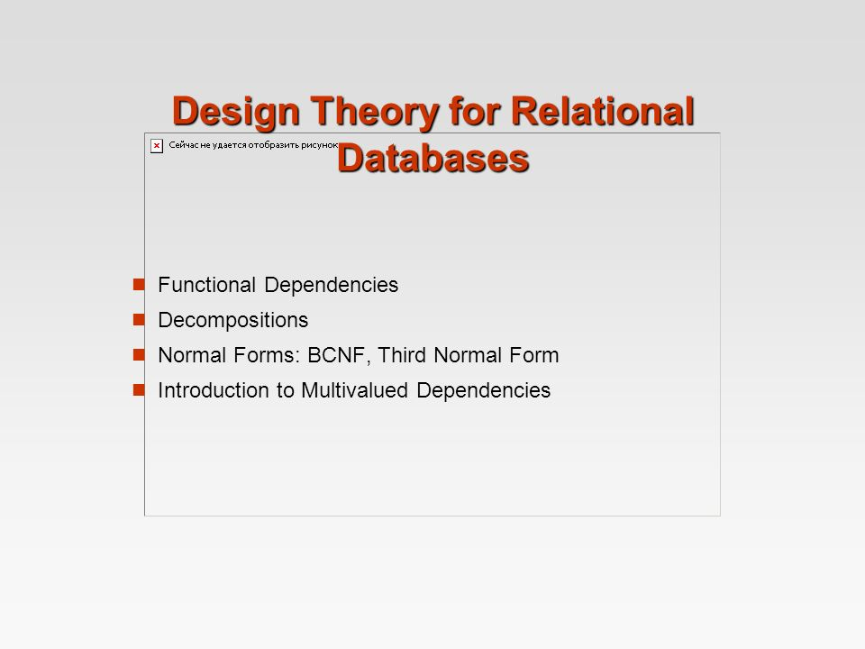 Design Theory for Relational Databases Functional Dependencies ...