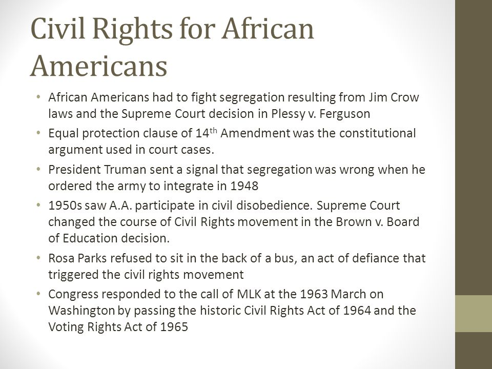 ap government civil rights notes