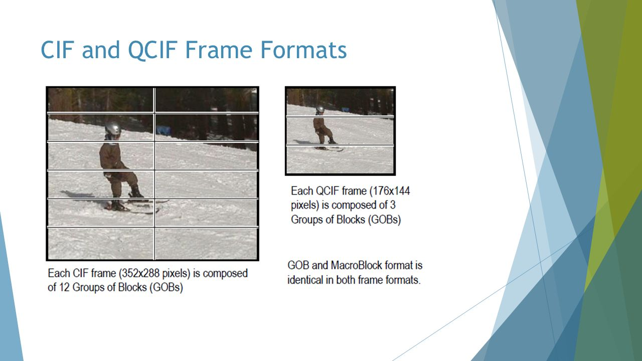 CIF and QCIF Frame Formats