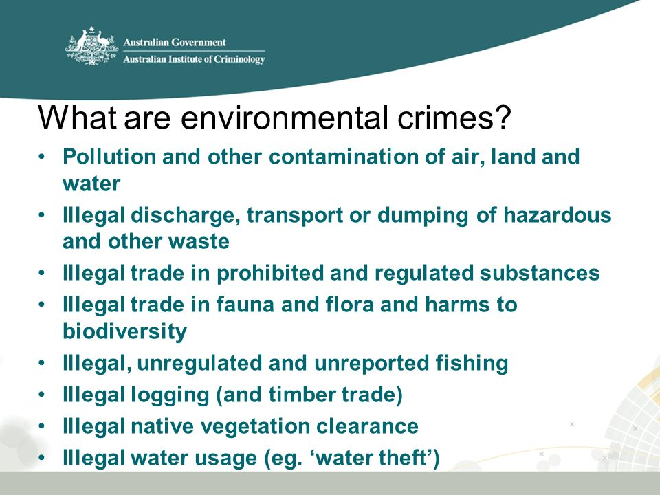 What are environmental crimes.