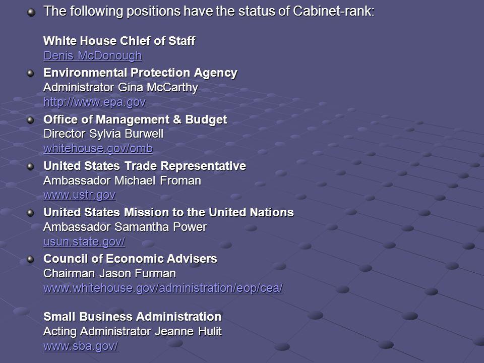 2015 The President's Cabinet. Secretary of State Advises President ...