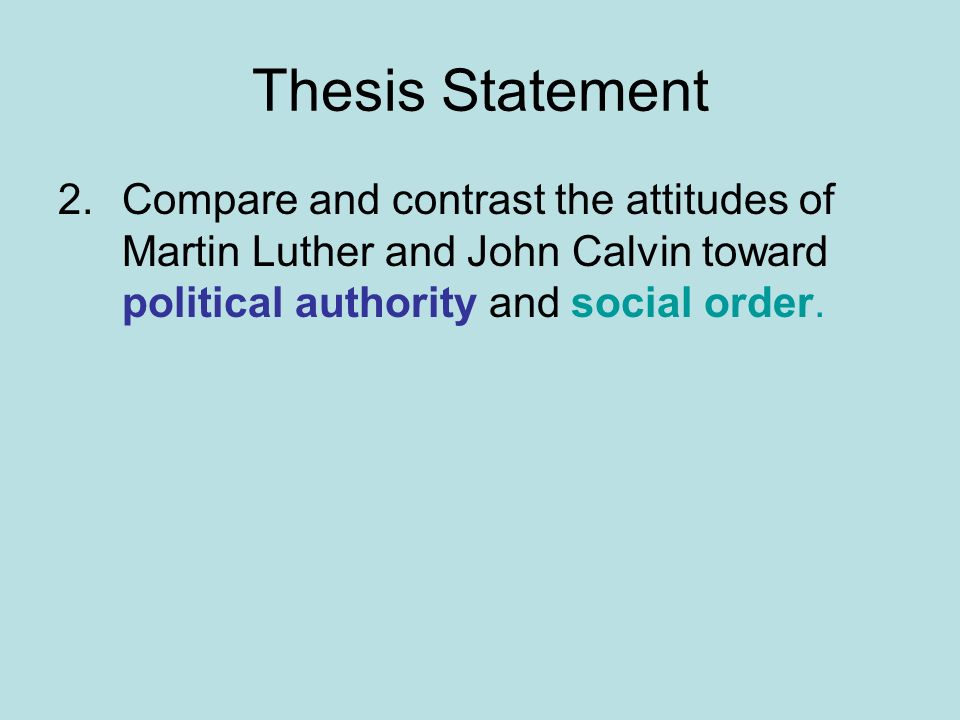 contrast thesis statement
