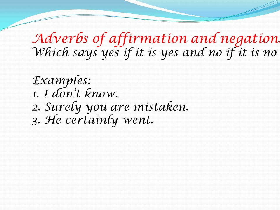 Adverbs Of Affirmation Examples Images Example Cover Letter For Resume