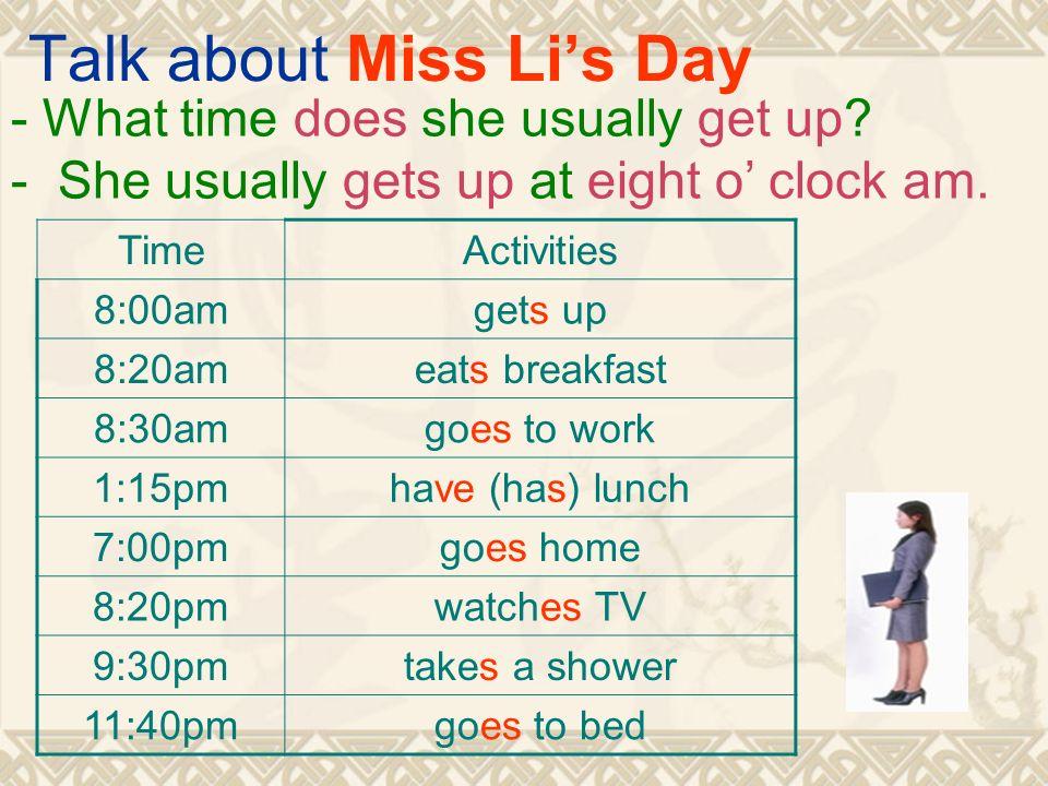 Resultado de imagen de what time do you usually get up