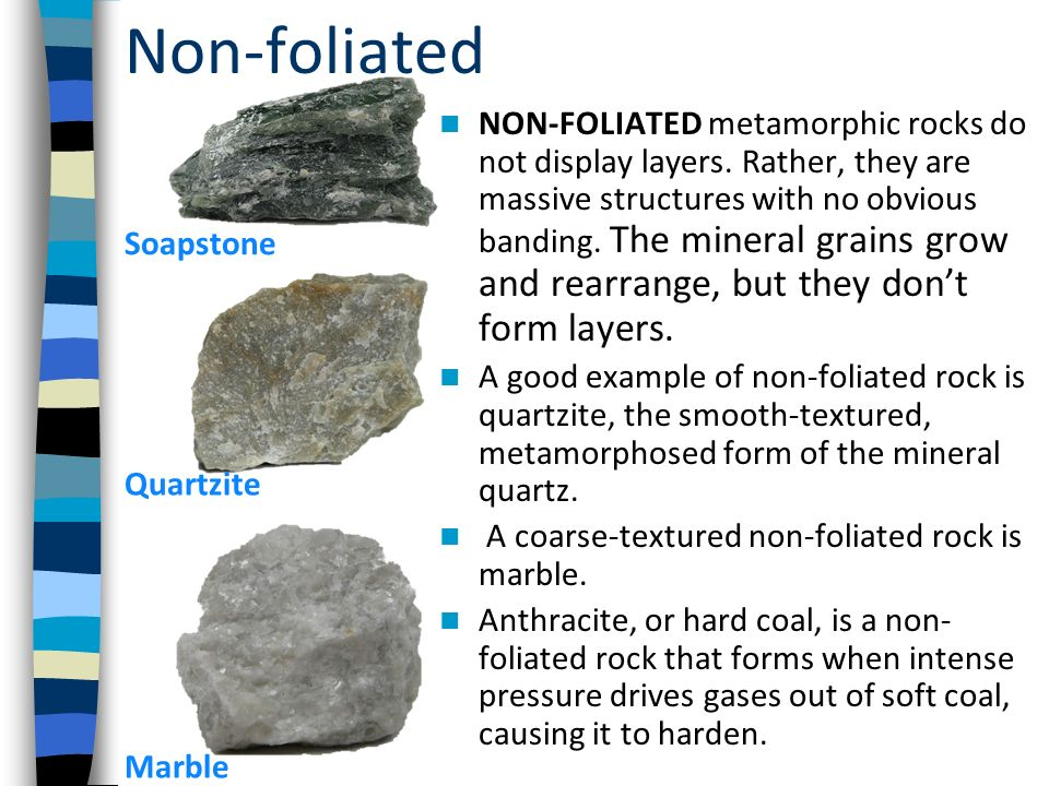 Metamorphic Rocks How a little bit of heat & pressure transform ...