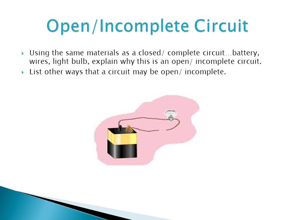 List The Materials Used To Make This Closed Complete Circuit