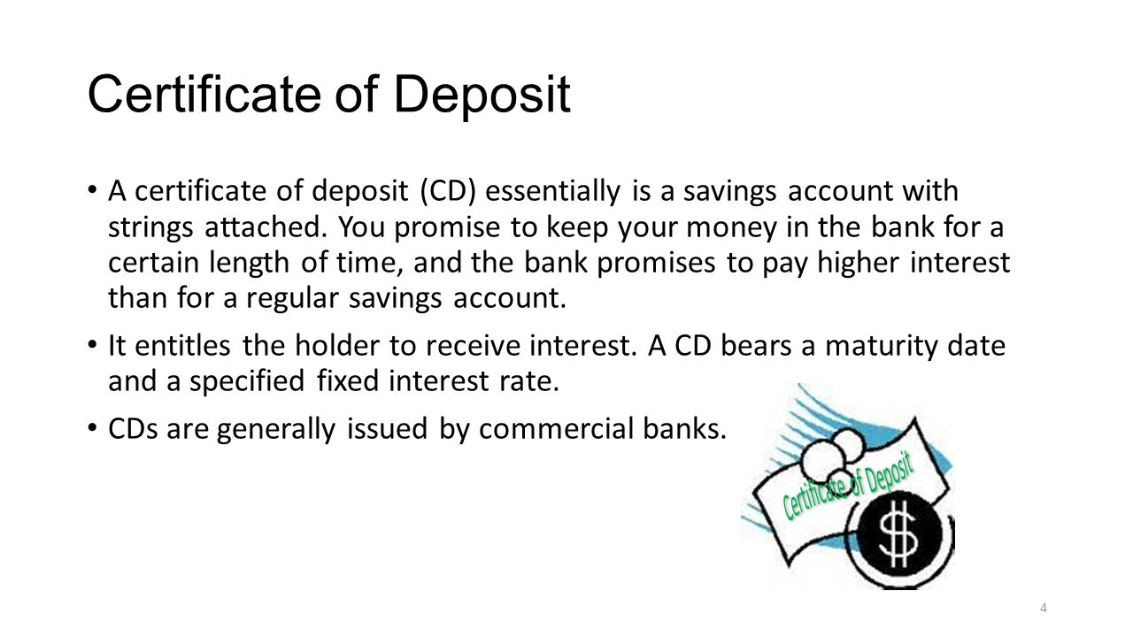 Features of different financial products lesson 1 bank deposits 33 certificate of deposit xflitez Gallery