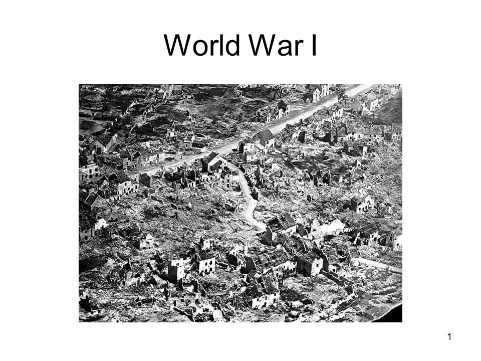 World War I 1. Causes of WWI – MANIA! M ilitarism - policy of ...
