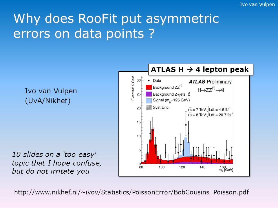 ivo van vulpen why does roofit put asymmetric errors on data 1 ivo
