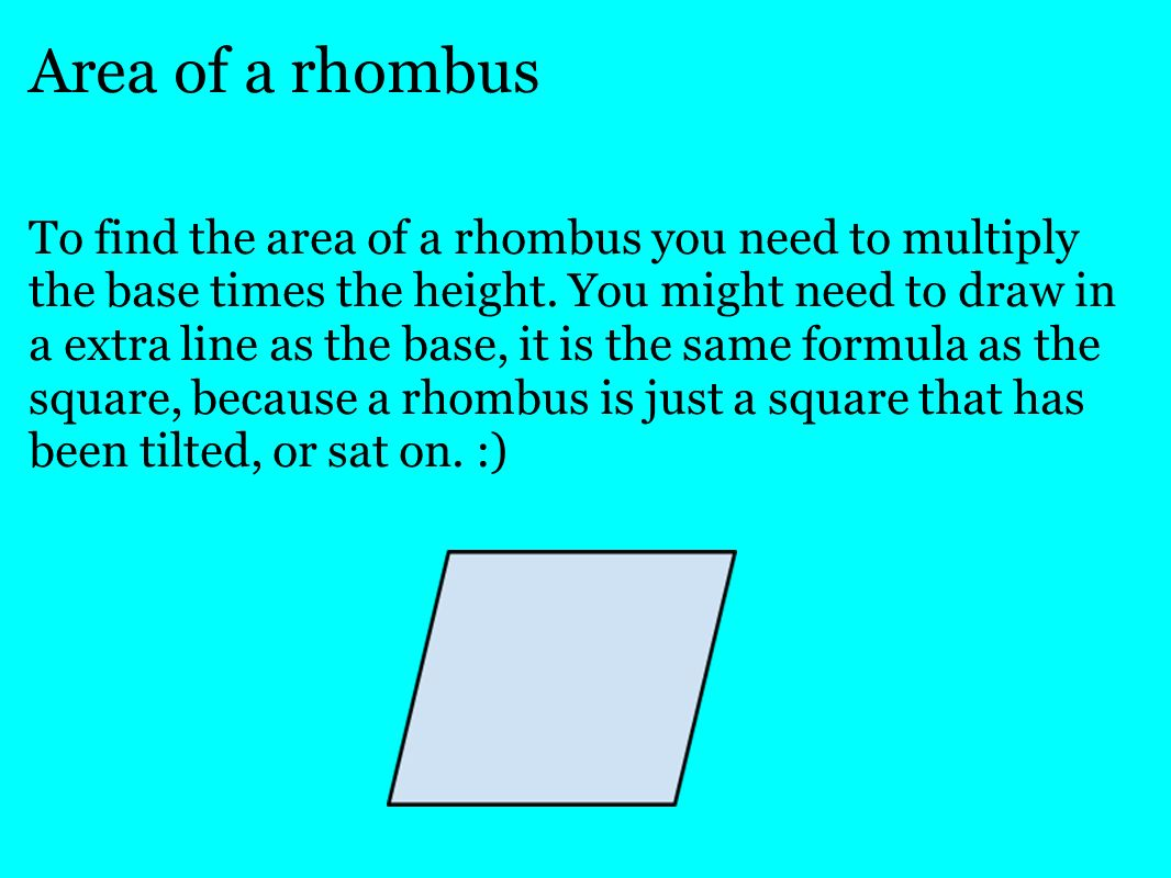 30 Area Of A Rhombus How To Find