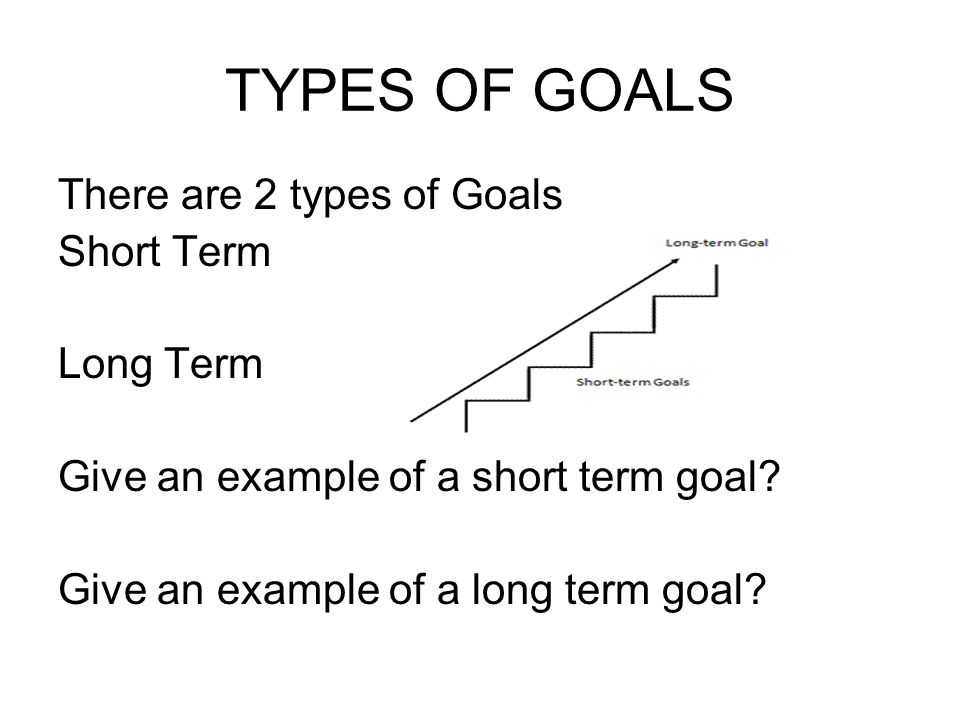 What is a long term goal?