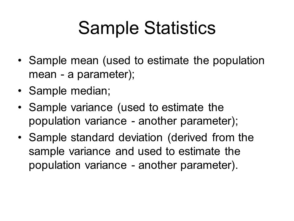 Sampling And Sampling Distributions Sampling Distribution Basics