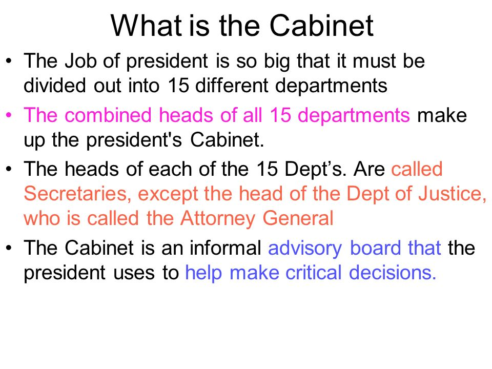 Lovely 2 Presidential Cabinet. Presidential Cabinet. 3 What Is ...