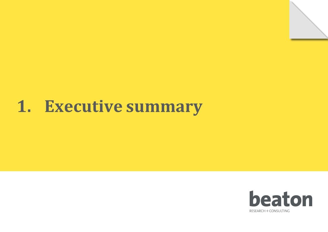 1.Executive summary © 2010 Beaton Research and Consulting Pty Ltd 4