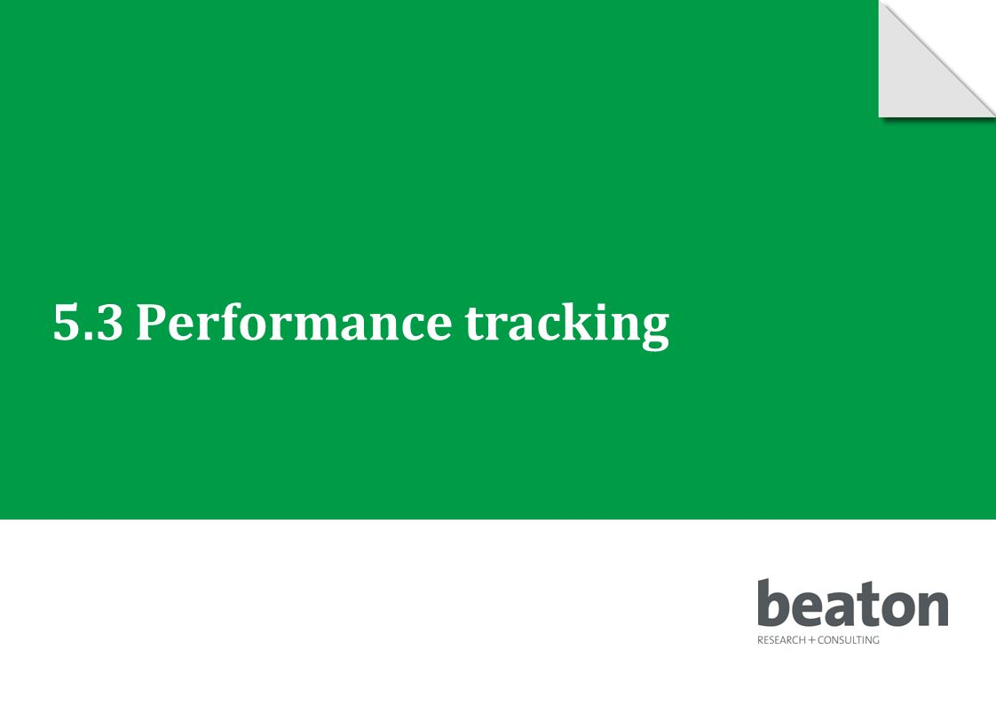 5.3Performance tracking © 2010 Beaton Research and Consulting Pty Ltd 61