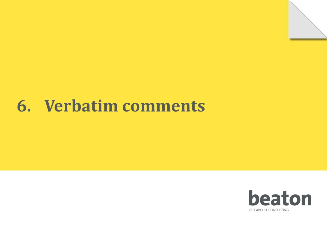 6.Verbatim comments © 2010 Beaton Research and Consulting Pty Ltd 95