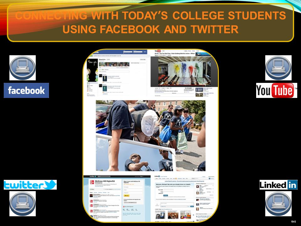 19-5 CONNECTING WITH TODAY'S COLLEGE STUDENTS USING FACEBOOK AND TWITTER