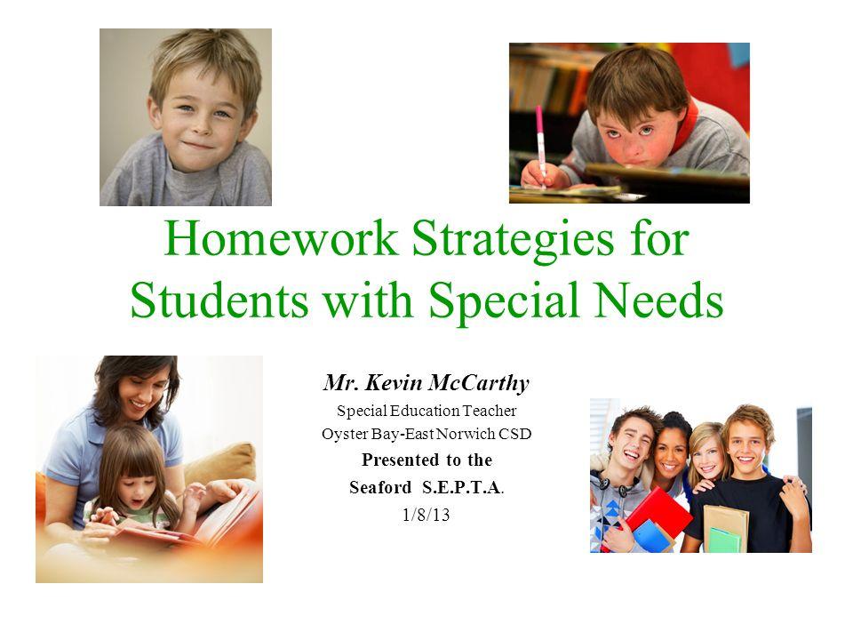 Special education homework help