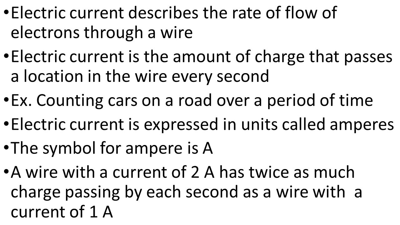 the flow of current through a wire essay Learn how to build a simple electric motor and study how simple changes affect the motor's rotation study how the current will flow through the wire.