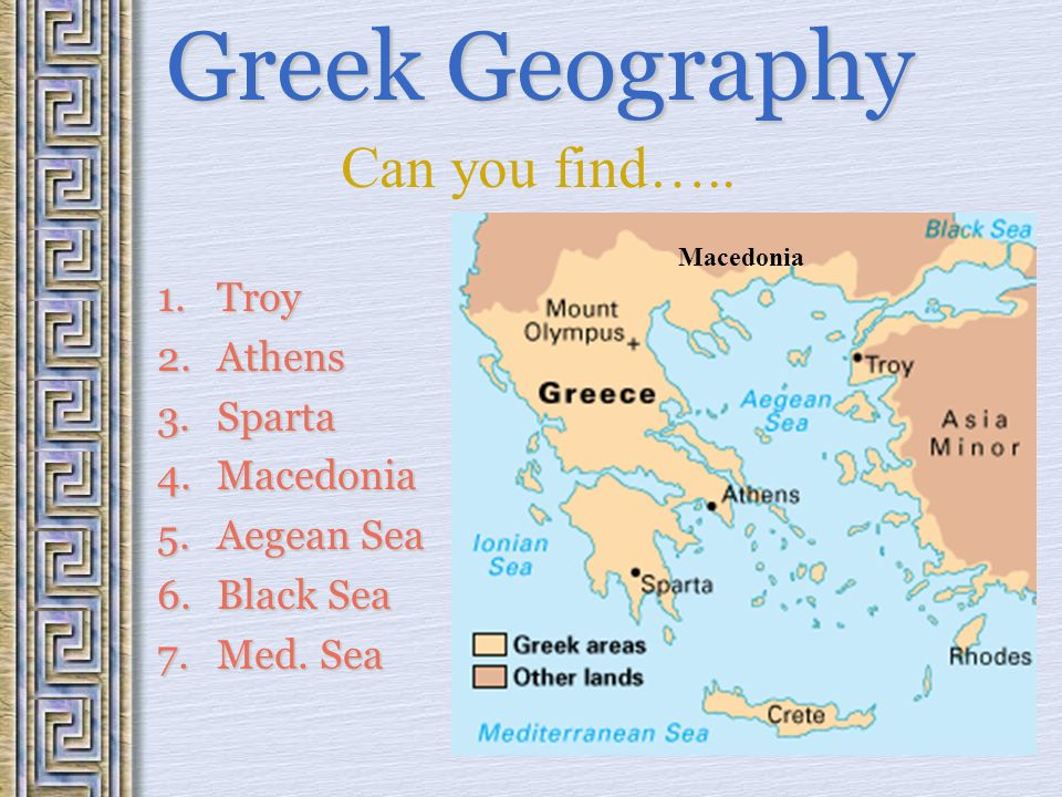 Ancient Greece 2000 BC to 449 BC Location of Greece Greek Peninsula