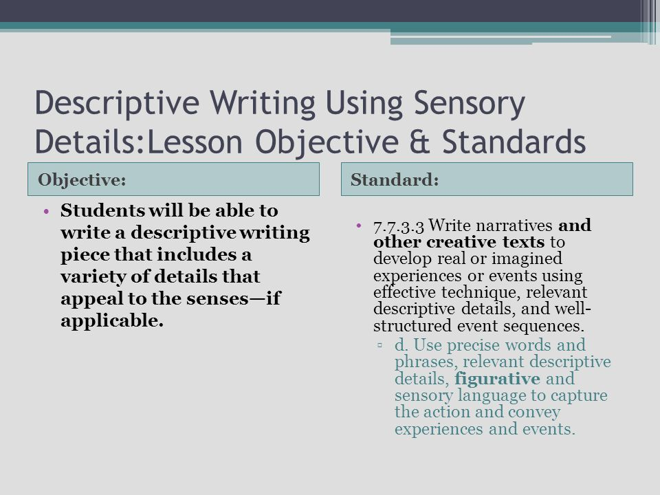 a descriptive essay using your 5 senses Descriptive writing: using your five senses today's snack: see the popcorn hear the popcorn pop smell that incredible fresh popcorn smell pick up a small handful.