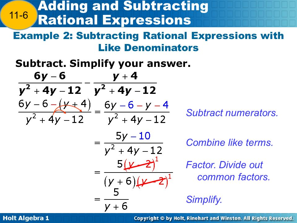 Holt algebra adding and subtracting rational expressions warm up 11 holt ccuart Gallery