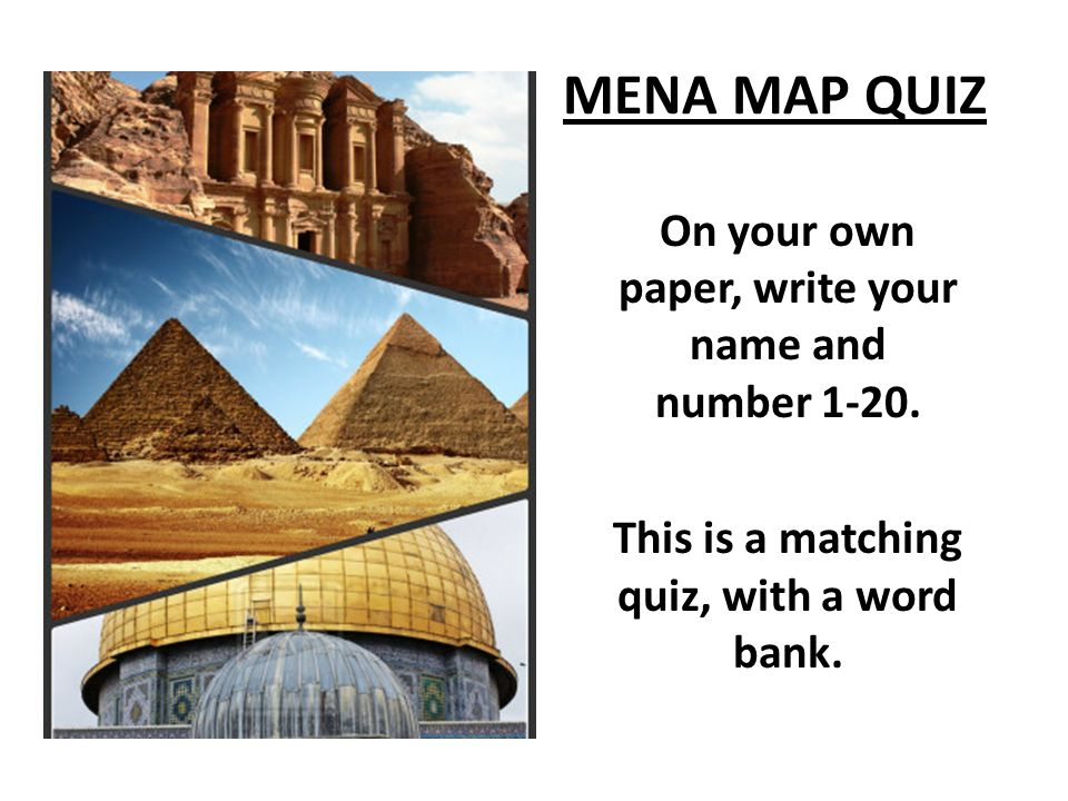 Mena map quiz on your own paper write your name and number this mena map quiz on your own paper write your name and number 1 20 gumiabroncs Image collections