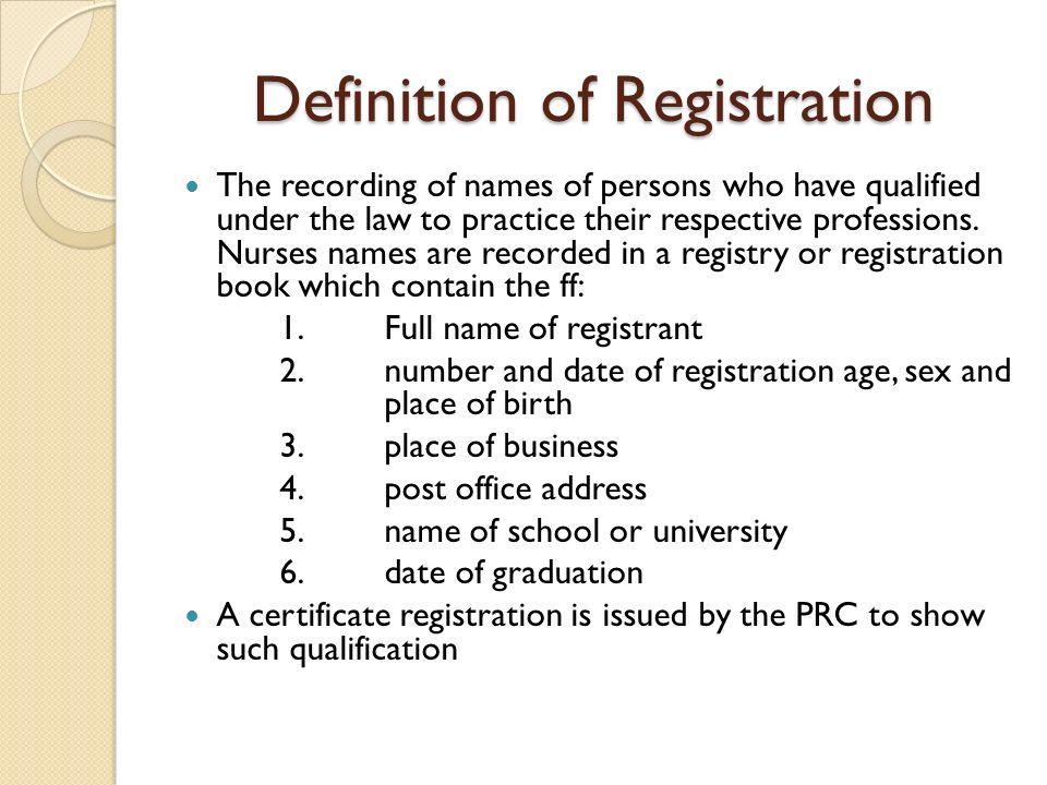 Registry Book Of Prc Exam