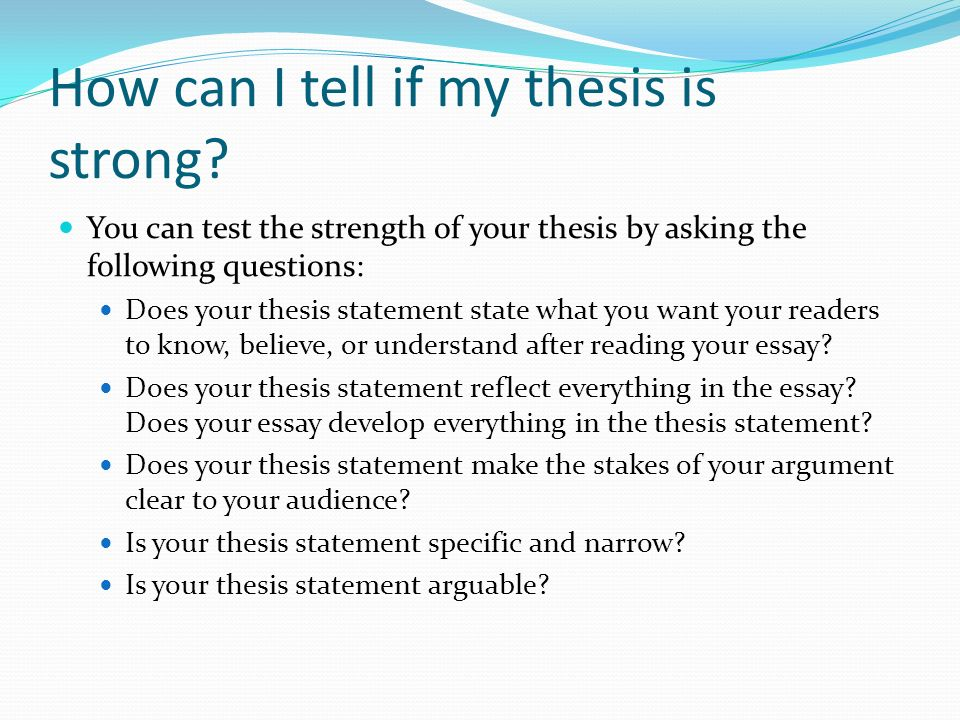 difference between argument thesis statement How to turn a prompt into a thesis statement your writing prompt for an argumentative explain why these differences might exist thesis: while.
