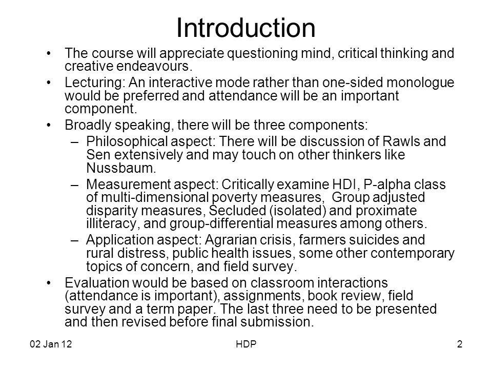Critical thinking application paper jan 2012