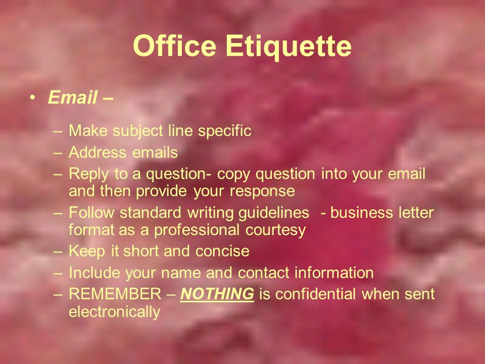 12 Office Professional Etiquette How Does